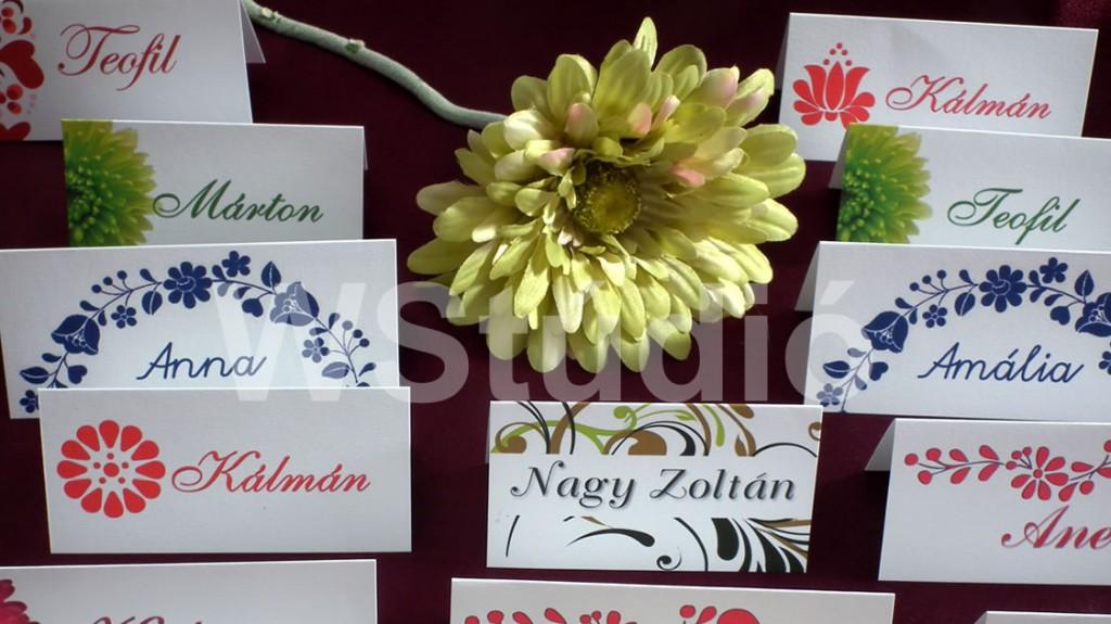 Esküvői ültetőkártyák