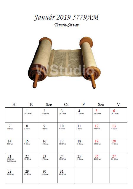 Zsidó naptár készítése