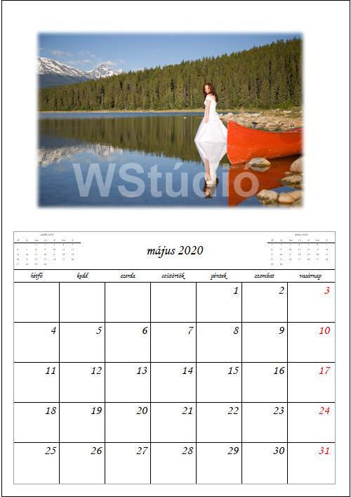 Jegyzetelős fali naptár készítés