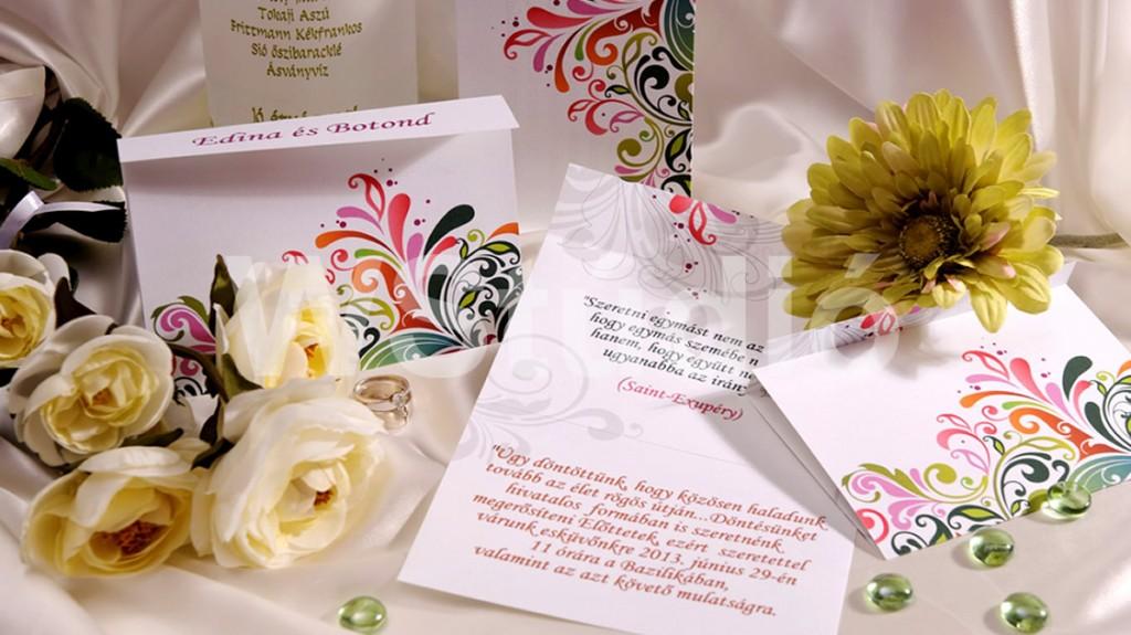 Nonfiguratív esküvői meghívó