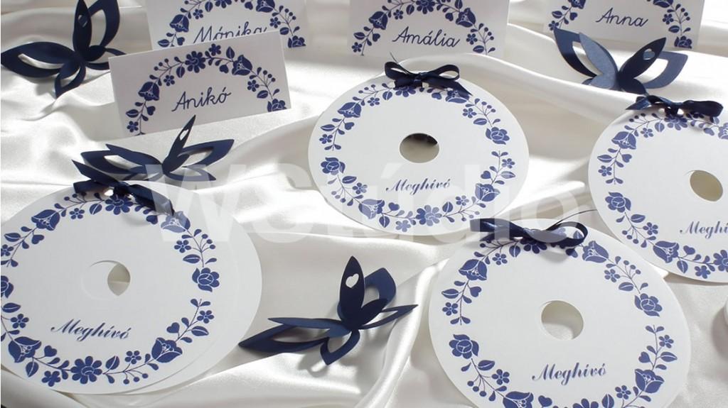 CD formájú esküvői meghívó