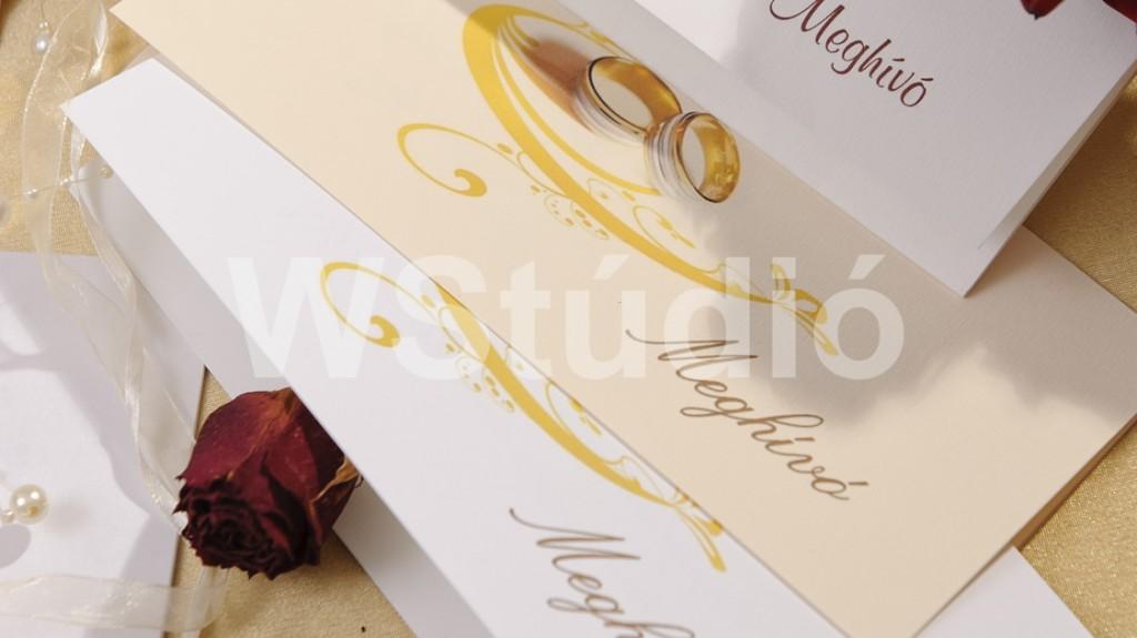 Francia hajtású esküvői meghívó