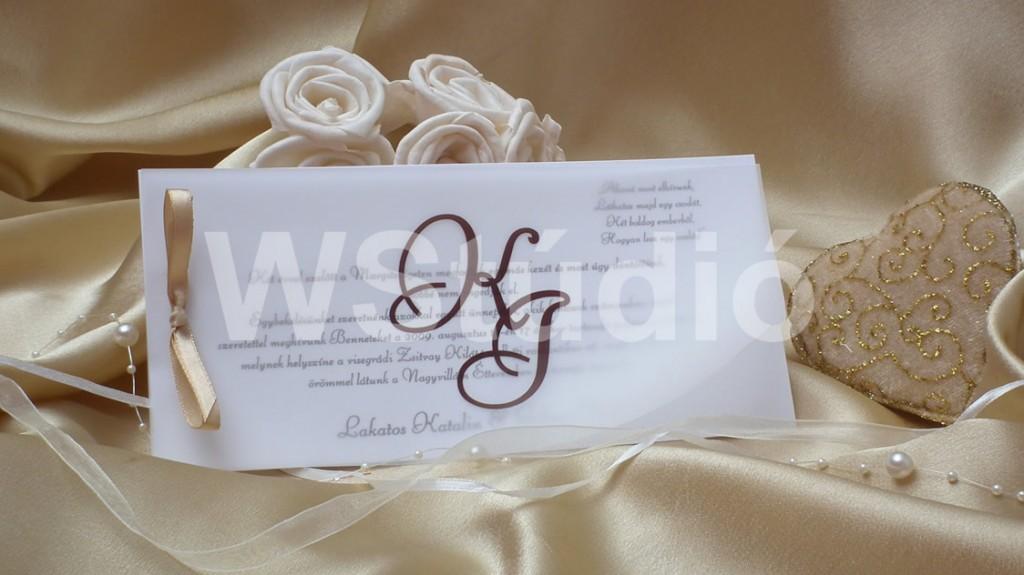 Monogramos esküvői meghívók
