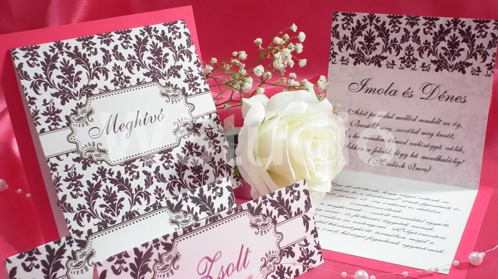 Vintage esküvői meghívó