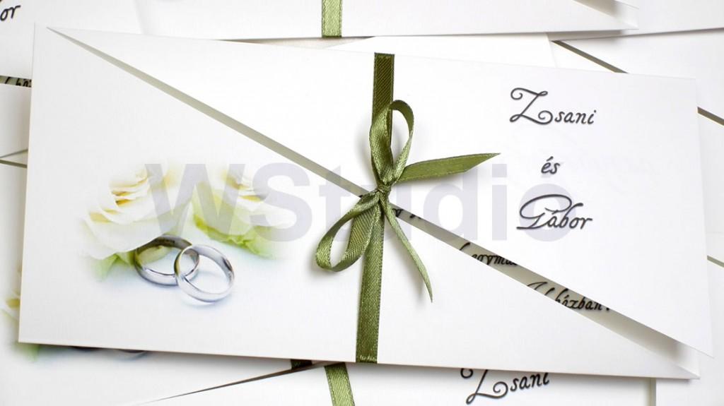 Nyári esküvői meghívó