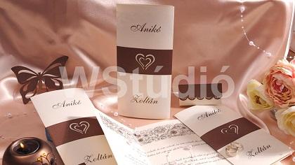 Kétszer hajtott esküvői meghívó kategória