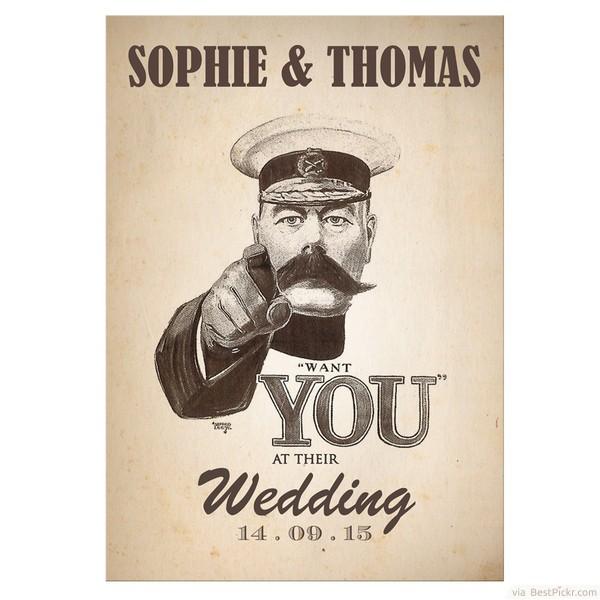 Szükségünk van rád az esküvőn - vicces meghívó minta - Webalbum