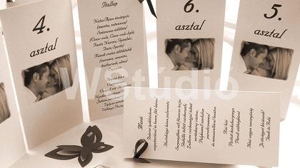 Esküvői menükártya Webalbum