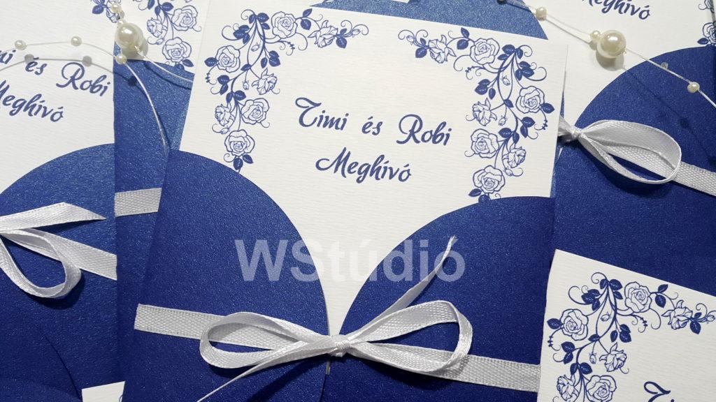 Téli esküvő - tasakos meghívó külseje