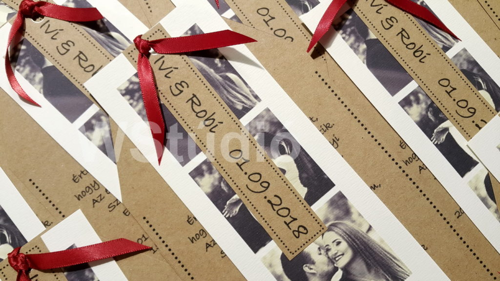 Fotócsík esküvői meghívó