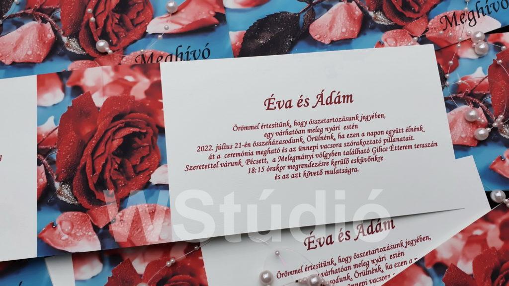 Képeslap esküvői meghívó
